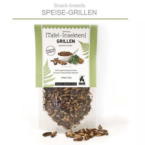 SNACK-INSECTS GRILLEN - 25 Gramm Pack ►