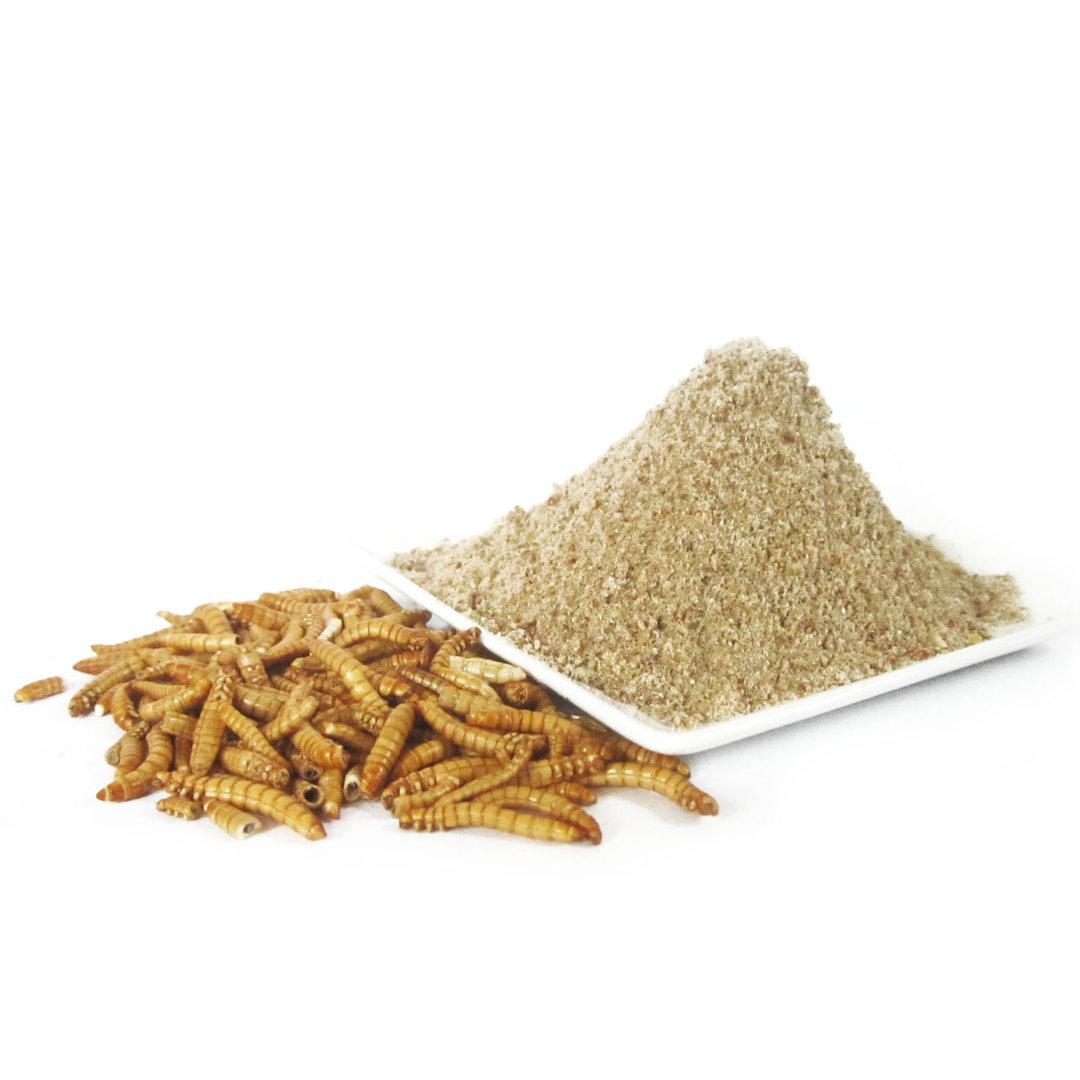 insektenmehl 100g gemahlene mehlw rmer kaufen hoher proteingehalt. Black Bedroom Furniture Sets. Home Design Ideas