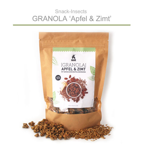 SNACK-INSECTS GRANOLA - 250g Müsli mit Insektenmehl ►